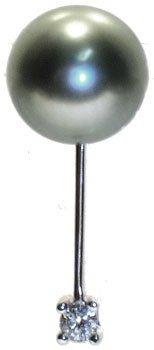 563: 18KW 8.5m Tahitan pearl diamond slide pendant: 652