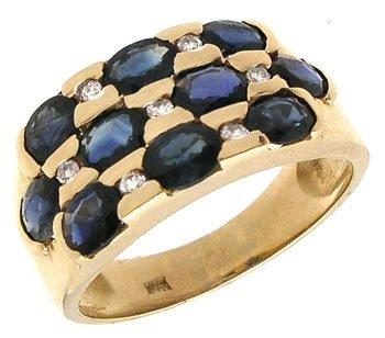 566: 14KY 2cttw Sapphire oval/Diamond ring: 659875