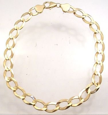 570: 14KY Chain Link Mens Bracelet: 842065