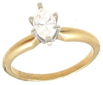 2252: 14KYG .44ct Diamond marquise solitaire ring: 6520