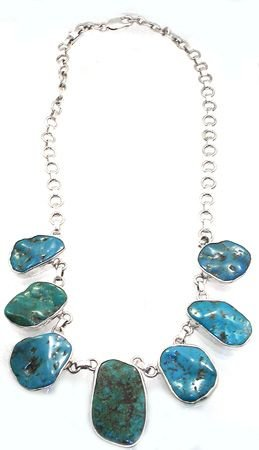 2255: SSilver and Turquoise necklace: 775756