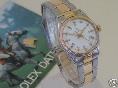 2421: Rolex GentsGold and stainless stunner in original