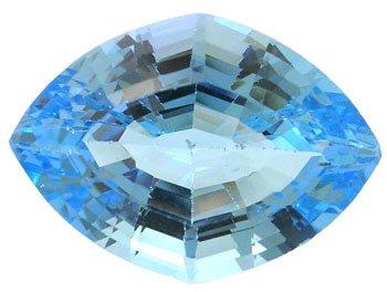 2564: 11ct Blue Topaz Fancy Diamond Cut Loose gem 12.5x