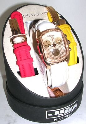 2572: JOJO Ladies dia Watch Set with 4 Leather Bands: 3