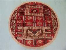 2595: Round Persian Karadjeh Rug 4x4: 9486