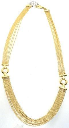 2610: 18KY 9 strand designer necklace 26.6 gram: 741110