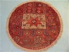 2645: Round Persian Karadjeh Rug 4x4: 9211