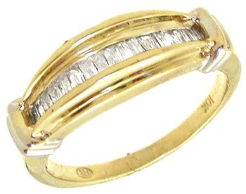 2250: 10KY .50cttw Diamond Bagg channel set ring: 75735