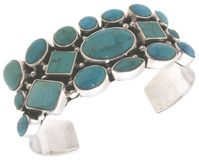 2257: Sterling Silver/turquoise cuff bracelet: 431010