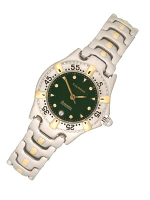 2272: Krug Baumen OCEANMASTER Green ladies watch: 84203