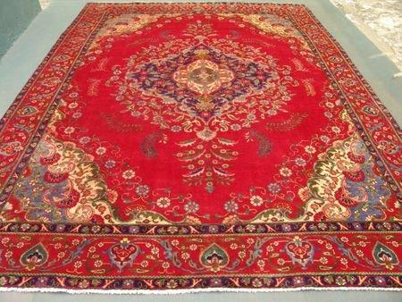 2449: Stunning Large Persian Tabriz Rug 12x9