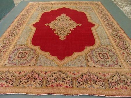 2374: Stunning Large Palace Persian Shah Kirman Rug 13x