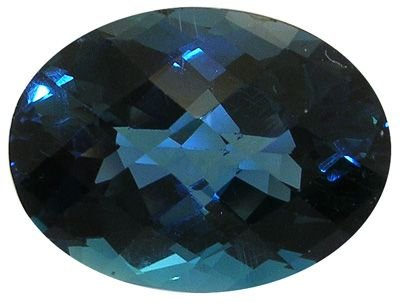 3257: 29ct London Blue Topaz Checkerboard Cut loose Sto
