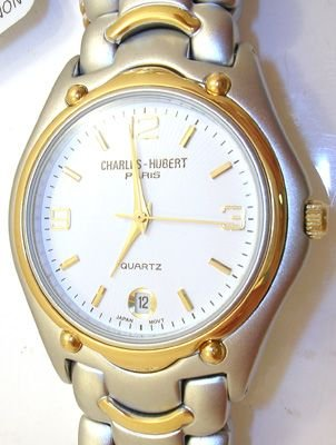3268: Charles-Hubert Two-Tone plated white dial Ladies: