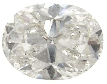 3362: .59ct oval SI1/J Diamond EGL certified $2466: 698
