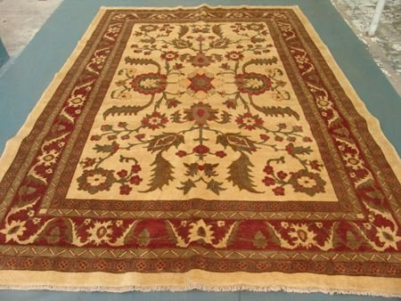 3449: Rare Vegetable Afghan Chobi Large Rug 12x9: 10029