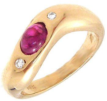 3551: 18KY .50ct Ruby Diamond Ring