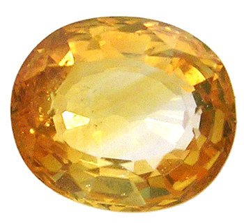 3559: 1ct Golden Yellow Sapphire Oval loose