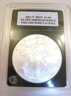 3568: 2001-P Silver American Eagle P.C.S. COLLECTION