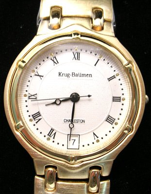 3571: Krug Baumen Principle 18Kt gold plated Ladies Bla