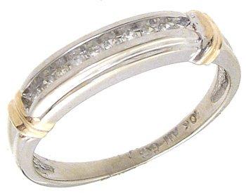 4251: 10KW .15cttw Channel round Diamondset ring, 75736