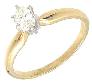 4252: 14KY .33ct Diamond Oval Solitaire Ring, 653480