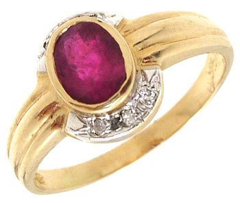 4262: 14KY .65ct Ruby Oval Ring, 653304