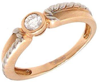 4264: 14KR .18ct Diamond Round Ring, 781243