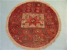 4444: Round Persian Karadjeh Rug 4x4, 9211