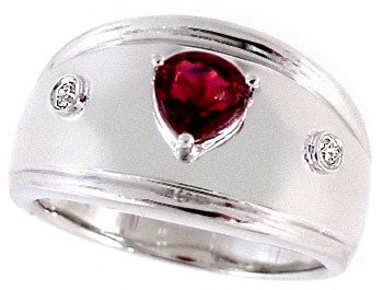 4560: 14WG .35ct pink tourmaline .03 diamond ring, 1042