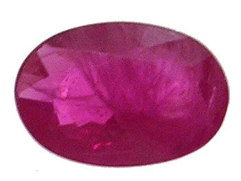 4568: .05ct 6x4 Burmese Ruby Oval Facet Loose, r64