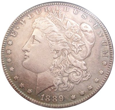 4571: 1889 Morgan Silver Dollar - AU condition!!, 84236