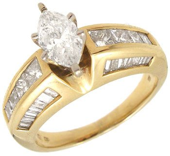440: 14KY 1.60cttw Diamond I1 H COLOR marquise ring