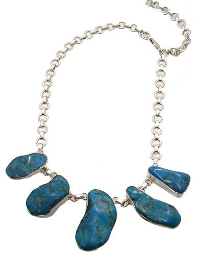 258: SSilver and Turquoise necklace