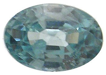 253: .65ct Blue Zircon Oval loose