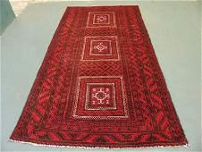 623: Semi Antique Afghan Kurdish Rug 9x5