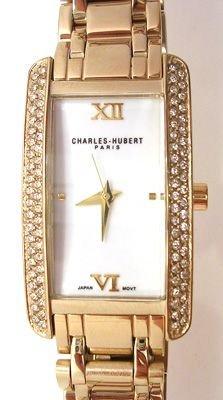 1265: Charles-Hubert Gold plated white dial Ladies Watc