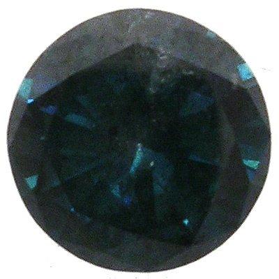 1438: 1.95ct Round-Cut NATURAL GREEN DIAMOND