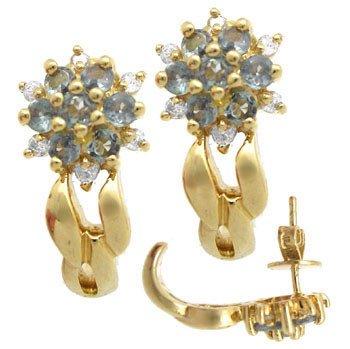 1550: 14kt .75ct Alexanderite diamond earing