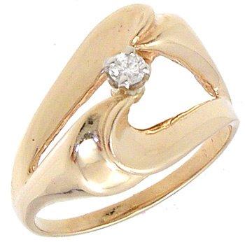 1562: 14KY Diamond Round Designer Ring