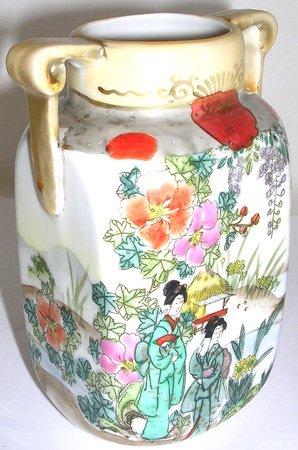 1572: Early Noritake Vase Nippon Japan