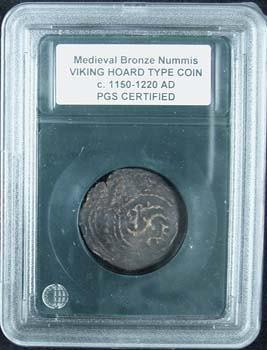 2271: Roman Bronze Medieval Viking Hoard Coin