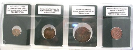 2272: PGS CERTIFIED- Ancient to Medieval Coin Set 4
