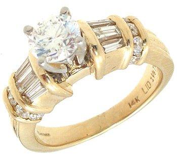 2440: 14K 1.20ct SI-2/H Diamond Engagement Ring Ap:$446