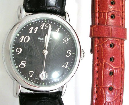 2655: Swiss APOGAUM Watch Mont Automatic Reserve Black