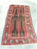 3596: Semi Antique Afghan Kurdish Rug 7x4: 1031: