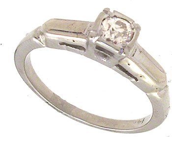 3252: 14KW .20ct Diamond round Vintage Ring 741271