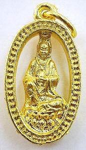 3280: 22KY Guan Kwan Yin Amulet Pendant Good Luck Penda