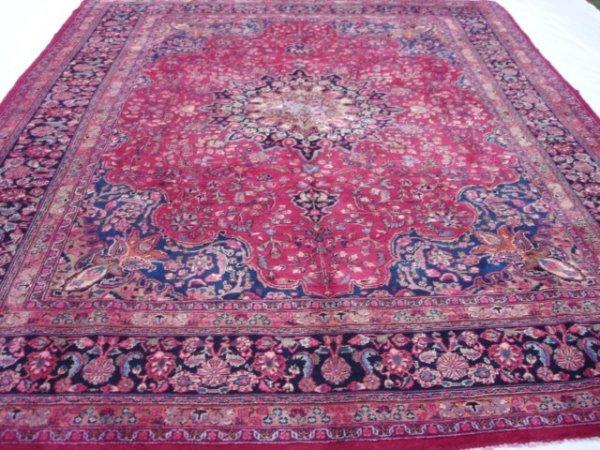 3324: Rugs Semi Antique Persian Tabriz Rug 13x10 843822