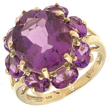 4259: 14KY 6cttw Amethyst Oval Ring